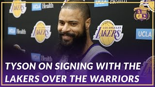 Lakers Interview: Tyson Chandler on Choosing The Lakers Over the Warriors