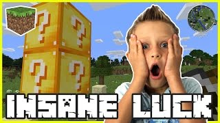 LuckyBlock INSANE LUCK | Minecraft