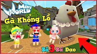 Mini World: Nếu Phong cận nuôi bé gà khổng lồ có sức mạnh hủy diệt trong mini world   Phong Cận Tv