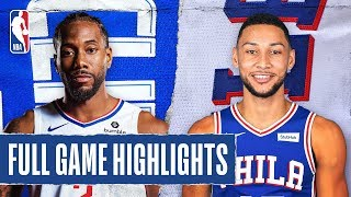 CLIPPERS at 76ERS | FULL GAME HIGHLIGHTS | February 11, 2020