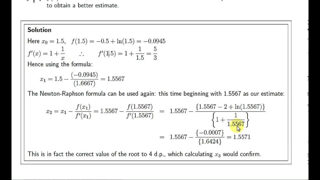 Find Roots Equation By Newton Raphson Method Via – Wonderful