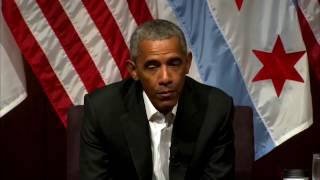 FULL: President Obama Hosts Discussion @ University of Chicago, FIRST Event Since Presidency (FNN)