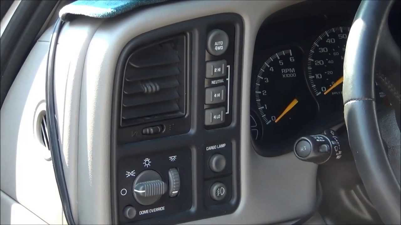 2000 Chevy Silverado 4WD transfer case switch repair - YouTube