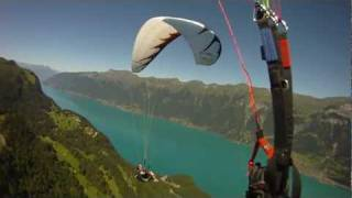 Breathtaking views while paragliding