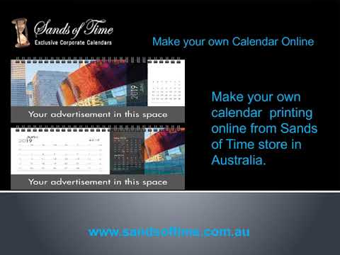 Make your own Design Calendar Online in Australia