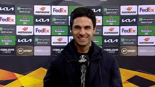 Mikel Arteta Reacts To Arsenal's Comeback Win Against Benfica