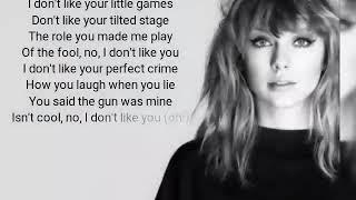 look what you made me do (lyrics)