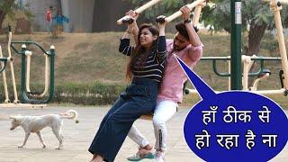 Prank On Hot Girl🔥 In Park GYM    New Prank Video    Suren Ranga