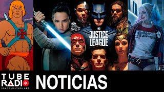 Tube Radio: Harley Quinn, Liga de la Justicia, He-man, Scooby Doo, Jurassic World, Los últimos Jedi