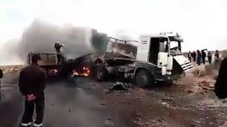 حادث أليم في طريق 16 الرابط بين بلدية الحمراية و ولاية الوادي ربي يرحم ...