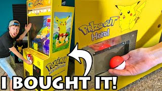 I BOUGHT A POKEMON CATCH ARCADE MACHINE - Winner Gets A Pokemon Cards Shopping Spree! [opening]