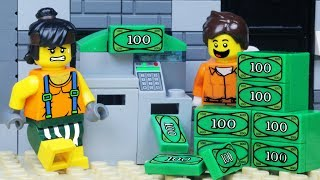 LEGO City ATM BANK ROBBERY - Lego Police Chase