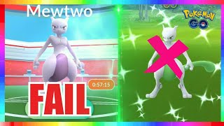 SHINY MEWTWO RAID DAY FAIL in Pokemon Go!
