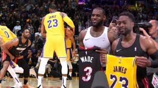 Final Minutes LeBron vs Wade, EMOTIONAL ENDING! Heat vs Lakers