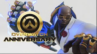 All Anniversary 2018 Legendary Skins In-Game  | /w Highlight Intros, Emotes, Poses [Overwatch]