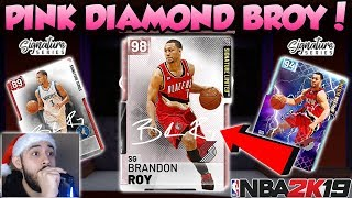 NBA 2K19 PINK DIAMOND BRANDON ROY PACK OPENING IN MYTEAM