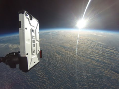 iPhone 6 in Space! HD balloon flight to 101,000 Feet by UAG