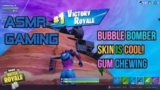 ASMR Gaming   Fortnite Bubble Bomber Skin Is Cool! Gum Chewing 🎮🎧Controller Sounds + Whispering😴💤