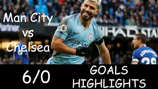 Manchester City vs Chelsea 6/0 Goals - Highlights - HD - 2019