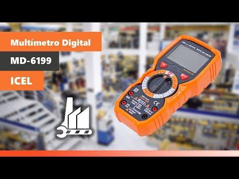 Multímetro Digital Ac/dc 20 Amperes 750/1000V Md-6199 Icel - Vídeo explicativo