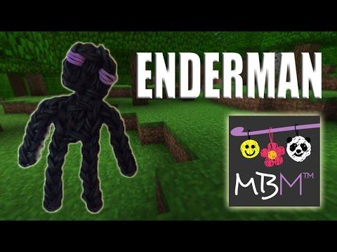 Rainbow Loom Minecraft Enderman Charm Design