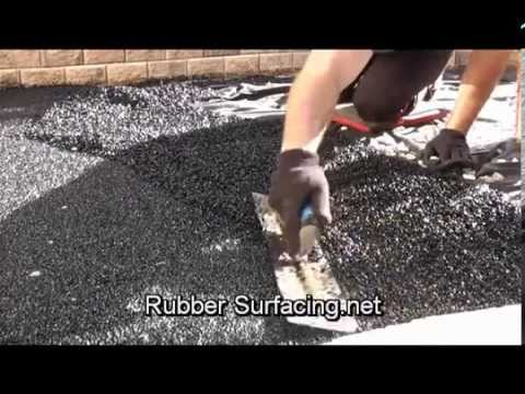 Recycled Rubber Surfacing Base Install Youtube