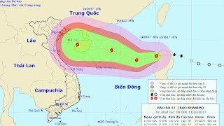 Tin Bão Mới Nhất 13/10/2017 : Bão số 11 áp sát quần đảo Hoàng Sa sức gió mạnh cấp 9, giật cấp 13