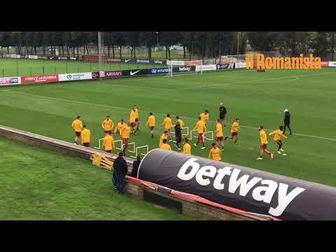 VIDEO - Allenamento Roma: De Rossi e Dzeko guidano il gruppo, Kolarov c'è