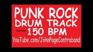 Punk Rock D Beat Drum Backing Track 150 BPM FREE