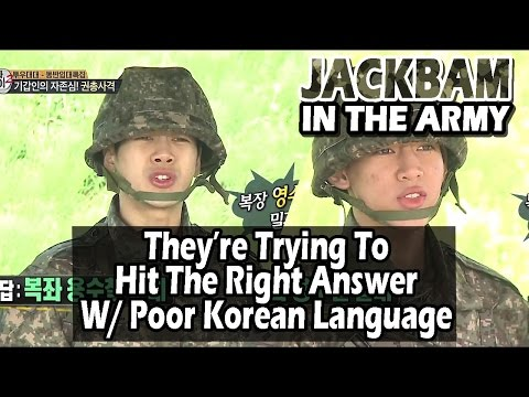 [Real men] 진짜 사나이 - Jackson And BamBam Competing Who Say Right Answer First 20160619