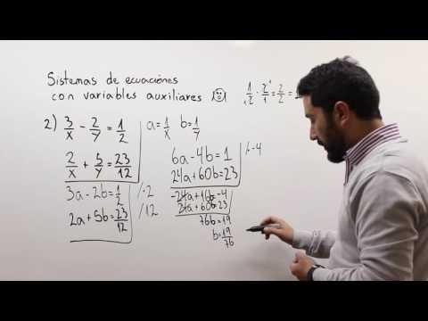 Sistemas de ecuaciones con variables auxiliares 2
