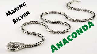 Making silver necklace Anaconda | Classic Foxtail | Loop in Loop Chain | Chain making Tutorial