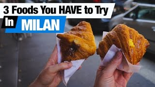 Italian Food - 3 Dishes To Try in Milan! (Americans Try Italian Food)
