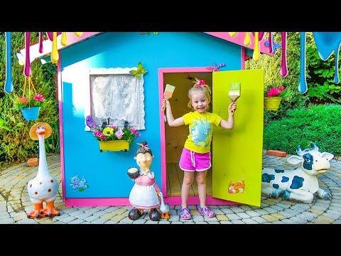 Детский игровой домик своими руками Colorful playhouse for kids