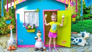 Colorful playhouse for kids
