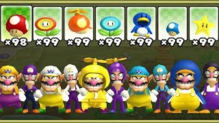 New Super Mario Bros Wii - All Wario and Waluigi Power-Ups