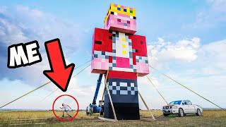 I Built The World's Largest Minecraft Statue