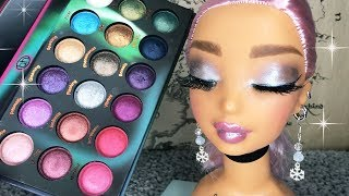 ASMR Makeup on Doll Head Ice Queen Look (Whispered)