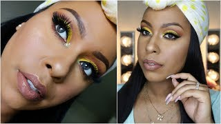MAKEUP MONDAY | Yellow Cut Crease | Box of Crayons Palette + Initial Thoughts |
