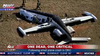 UPDATE: One dead, one critical following small plane crash in OKC (FNN)