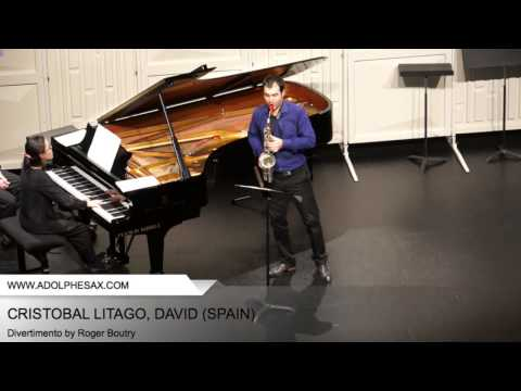 Dinant 2014 - CRISTOBAL LITAGO, David (Divertimento by Roger Boutry)