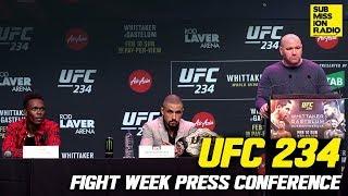 UFC 234: Whittaker vs. Gastelum Fight Week Press Conference