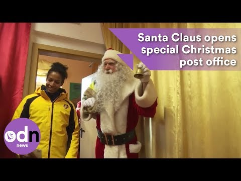 Santa Claus opens special Christmas post office