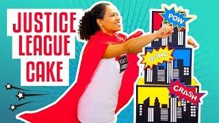 How To Make A JUSTICE LEAGUE Superhero-Inspired Birthday CAKE   Yolanda Gampp   How To Cake It