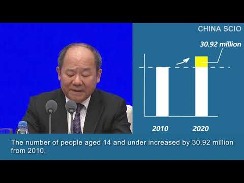 Ning Jizhe, deputy head of the Leading Group of the State Council for the Seventh National Population Census and commissioner of the National Bureau of Statistics, talks about China's age demographics at a press conference in Beijing on May 11.