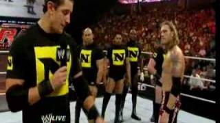 Edge calls out Chris Jericho and The Nexus attacks them (RAW 07 19 2010)