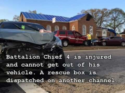 Baltimore City Fire Dept Battalion Chief 4 Crash Radio Traffic 5/4/14