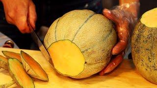 Amazing Fruits Cutting Skills In Myeong-dong  / Korean Street Food  / 깔끔한 명동 과일집 컷팅 스킬