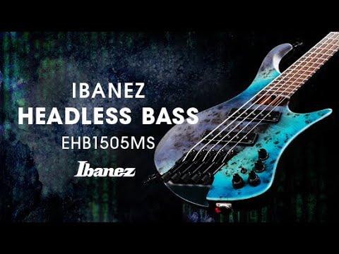 Ibanez EHB1505MS-PLF 5 String Headless Electric Bass Guitar - Pacific Blue Burst Flat