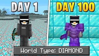 I Survived 100 Days Of Hardcore Minecraft, In A Diamond Only World